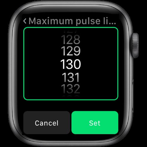 Setting pulse